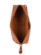 Metallic Leather Pencil Case Milano Brown river RI151101-vue-porte