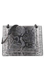 Medium Leather Delicate Fantaisie Crossbody Bag Etrier Black delicate fantaisie EDEF12