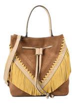 Suede Leather Arizona Bucket Bag Etrier Brown arizona EARI12