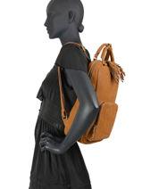 Leather Tornade Backpack Etrier Brown tornade ETOR13-vue-porte
