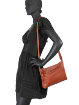 Leather Orleans Crossbody Bag Biba Red orleans ORN3L-vue-porte