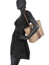 Open Road Tote Bag Guess Brown open road SS718624-vue-porte