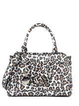 Emilia Satchel With Leopard Print Guess Multicolor emilia LG774306