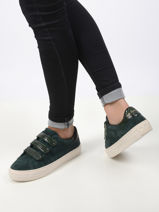 Arcade straps sneakers in leather-NO NAME-vue-porte