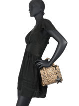Volu Crossbody Bag With Leopard-print Liu jo Brown volu AF0087-vue-porte