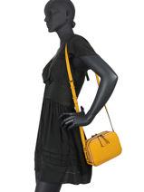 Shoulder Bag Balade Leather Etrier Yellow balade EBAL01-vue-porte