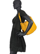 Shoulder Bag Balade Leather Etrier Yellow balade EBAL07-vue-porte