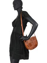 Egio Crossbody Bag Fuchsia Brown egio 1-vue-porte