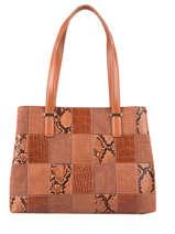 Egio Shoulder Bag Fuchsia Brown egio 5
