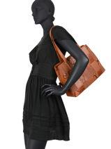Egio Shoulder Bag Fuchsia Brown egio 5-vue-porte