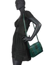 Egio Crossbody Bag Fuchsia Green egio 2-vue-porte