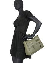 Leather Carine Satchel Michael kors Green carine S0GCCS2L-vue-porte