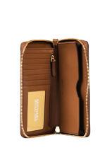 Wallet Leather Michael kors Brown money pieces F9GTVE9L-vue-porte