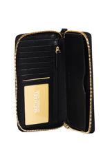 Wallet Leather Michael kors Black money pieces F9GTVE9L-vue-porte