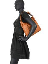 Leather Dewashed Shoulder Bag Milano Brown dewashed DE20072-vue-porte