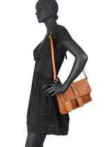 Leather Dewashed Crossbody Bag Milano Brown dewashed DE20075-vue-porte