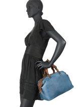 Handbag Authentic Tresse Torrow Blue authentic tresse TATT02-vue-porte