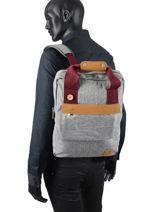 Tricolor Urban Bag Backpack Faguo Gray tricolor 20LU0904-vue-porte