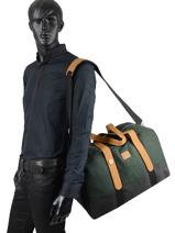 Carry-on Luggage Wool Faguo Green wool 20LU9405-vue-porte