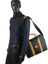 Wool Laptop Bag Faguo Green wool 20LU9403-vue-porte