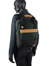 Backpack Faguo Green wool 20LU9402-vue-porte