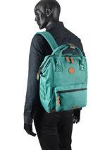 Customisable Backpack Cabaia tour du monde BAGS-vue-porte