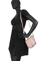 Crossbody Bag Baby Cabas Sequins Vanessa bruno Pink cabas 1V40410-vue-porte