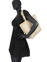 Le Cabas Moyen+ Feutre Bicolore Vanessa bruno Beige cabas 49V40414-vue-porte