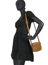 Leather Crossbody Bag Chelsa Nathan baume Brown n city 50-vue-porte