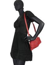 Shoulder Bag Cow Leather Basilic pepper Red cow BCOW36-vue-porte