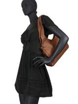 Shoulder Bag Snake Leather Basilic pepper Brown snake BSNA01-vue-porte