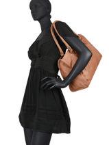 Shoulder Bag Cow Leather Basilic pepper Brown cow BCOW31-vue-porte