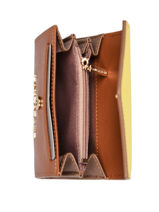 Purse Leather Lancaster Brown signature 1-vue-porte
