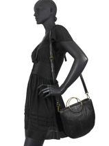 Shoulder Bag Sina Leather Pieces Black sina 17107577-vue-porte
