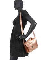 Crossbody Bag Vintage Leather Paul marius Pink vintage GEORGE-vue-porte