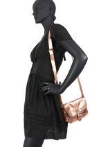Crossbody Bag Vintage Leather Paul marius Pink vintage ESSENTIE-vue-porte