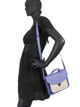 Leather Cupcake Crossbody Bag Paul marius Violet cup cake GEORGCUP-vue-porte