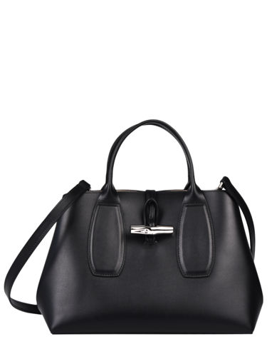 Longchamp Roseau box Handbag Black