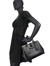 Longchamp Roseau box Handbag Black-vue-porte