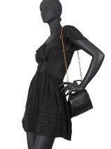 Leather Dany Crossbody Bag Nat et nin Black vintage DANY-vue-porte