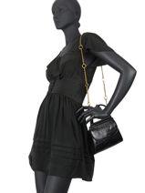 Leather Dany Croc Crossbody Bag Nat et nin Black croc C-vue-porte