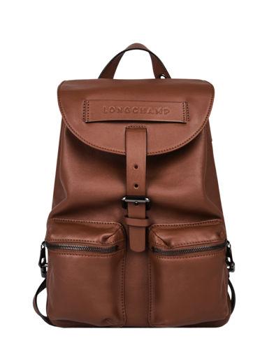 Longchamp Longchamp 3d zip Backpack Brown