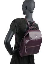 Longchamp Backpack Violet-vue-porte