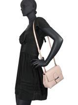Longchamp Roseau box Sacs porté travers Rose-vue-porte