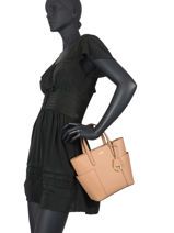 Small Leather Carlyle Satchel Lauren ralph lauren Beige dryden 31758532-vue-porte