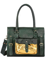Leather Rive Gauche Oasis Satchel Paul marius Green oasis RIVGMOAS