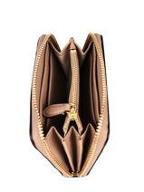 Small Leather Zip Wallet Dryden Lauren ralph lauren Pink dryden 32754175-vue-porte