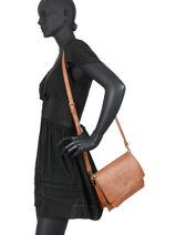 Nadal Crossbody Bag Lulu castagnette Brown simple NADAL-vue-porte