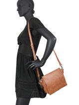 Nacir Crossbody Bag Lulu castagnette Brown simple NACIR-vue-porte