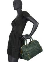 Shopper Vintage Leather Nat et nin Green vintage PANAMA-vue-porte